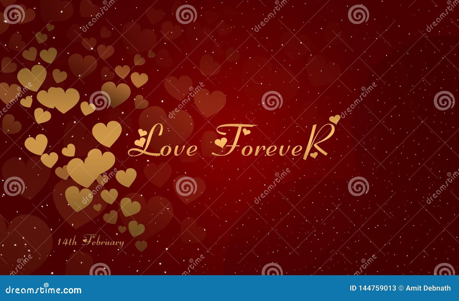 Imagem de fundo do dia de Valentim Cart?o do amor Day Rosa vermelha Amor para sempre