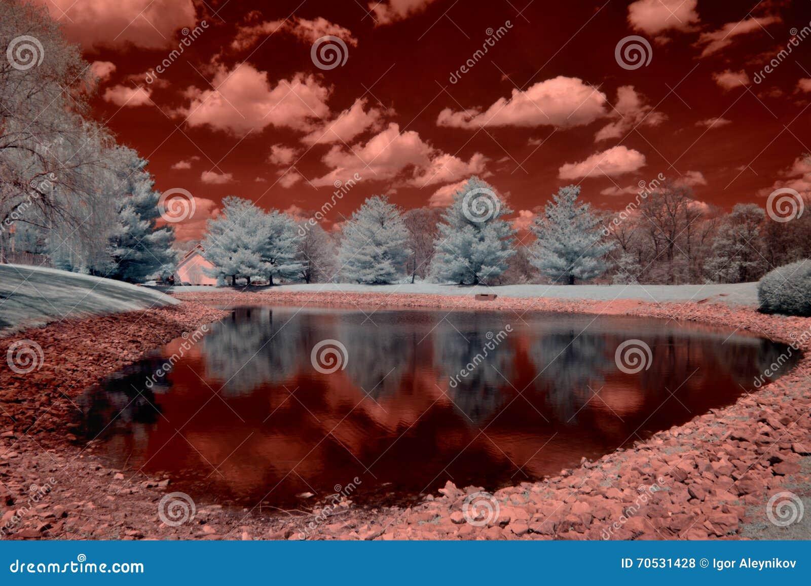 Imagem de Infraredred de uma lagoa