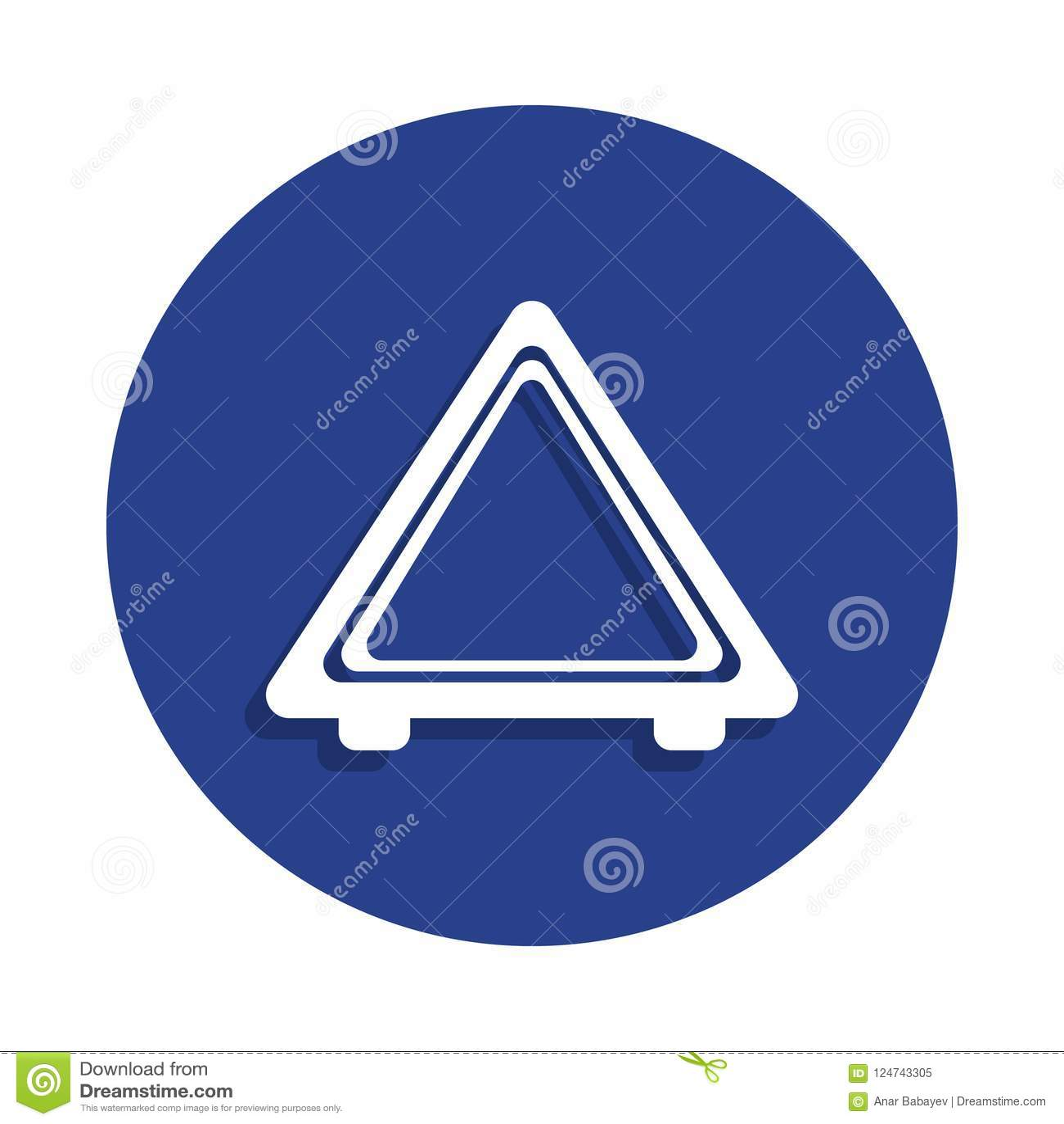 Imagem do ícone da parada de emergência do automóvel no estilo do crachá Um do ícone repear da coleção dos carros pode ser usado