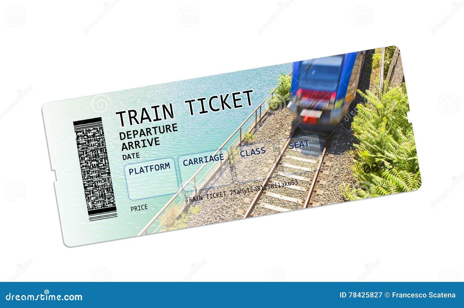 Imagem do conceito do bilhete de trem