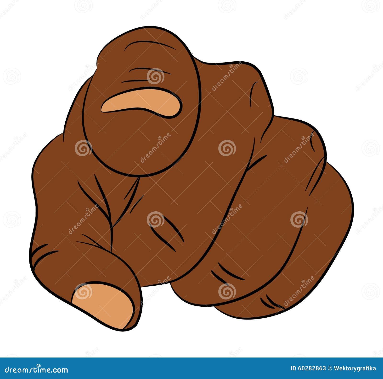 Imagem Do Homem Negro Dos Desenhos Animados Gesto De Mao Humano