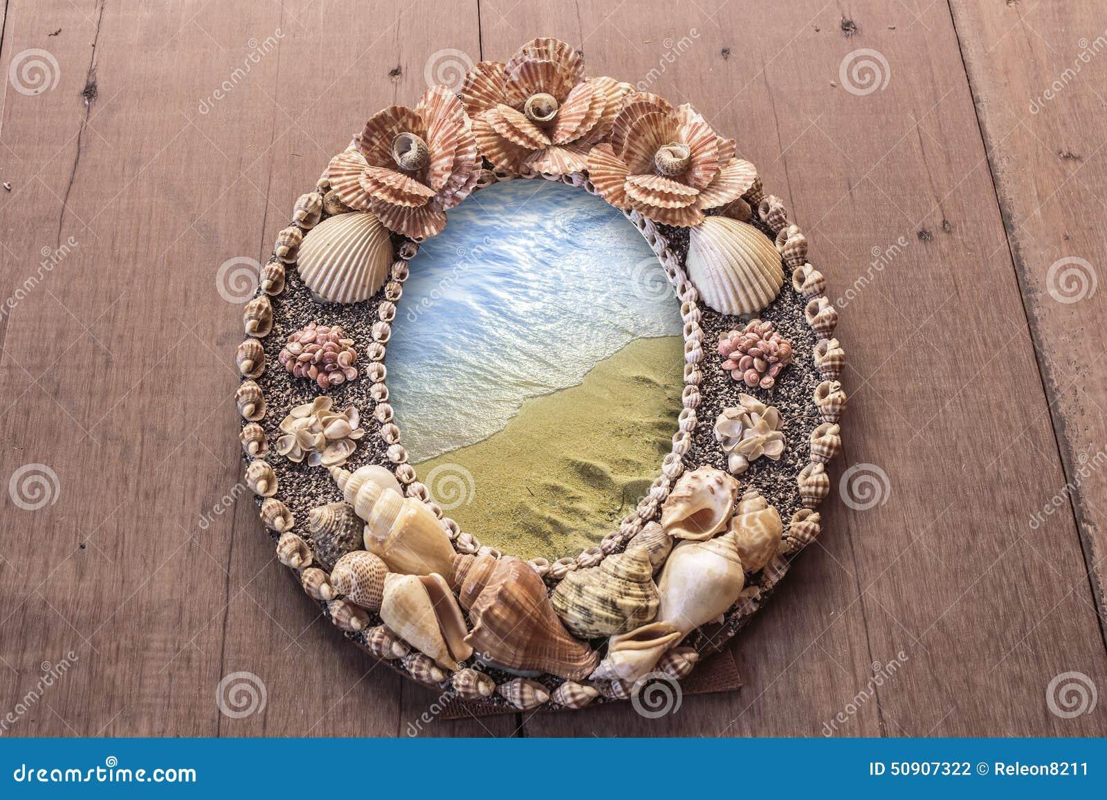 Imagem do quadro feita dos shell mares no quadro