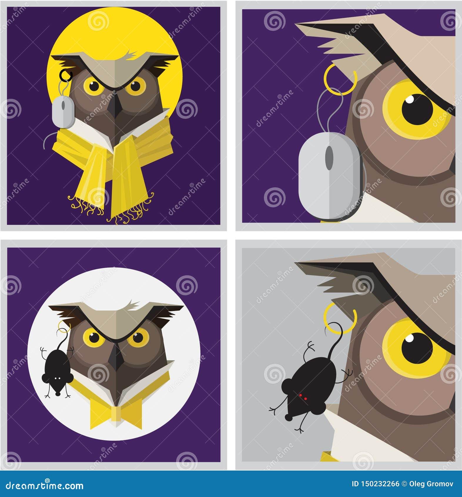 Imagem do vetor de um brinco da coruja de águia