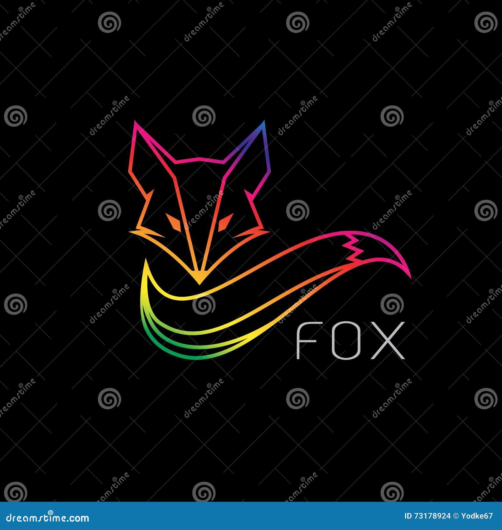 Imagem do vetor de um projeto da raposa