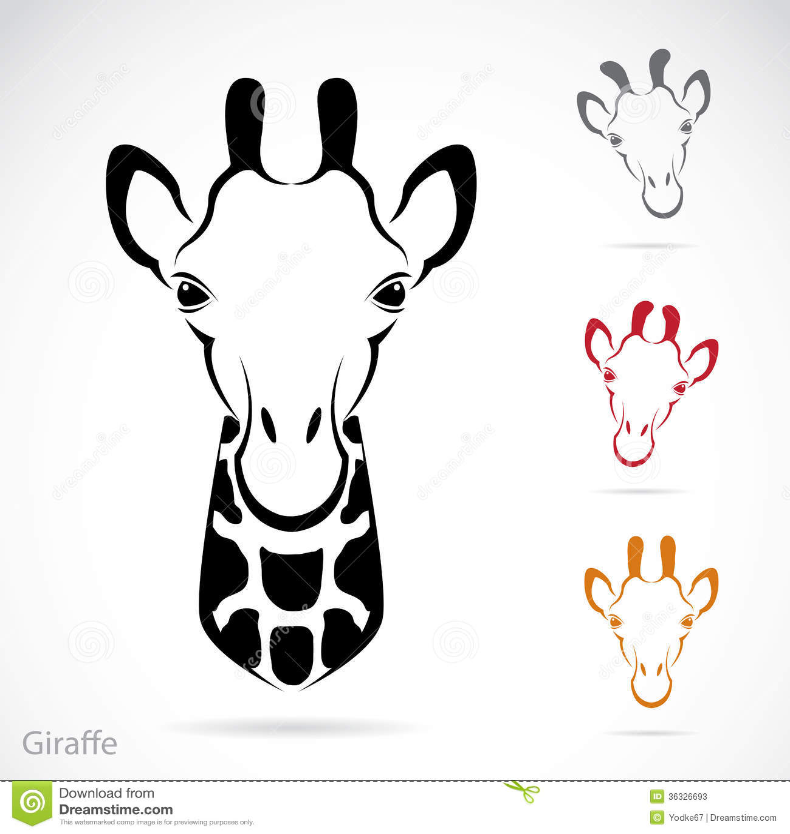giraffe head outline