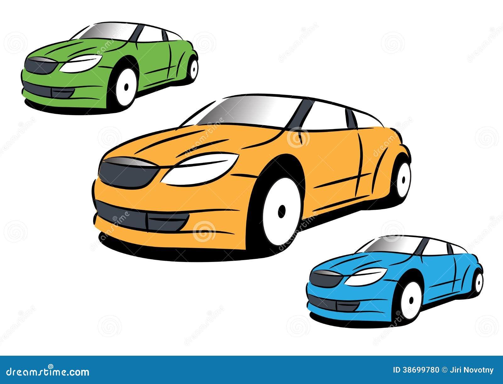 A imagem do vetor do carro desportivo