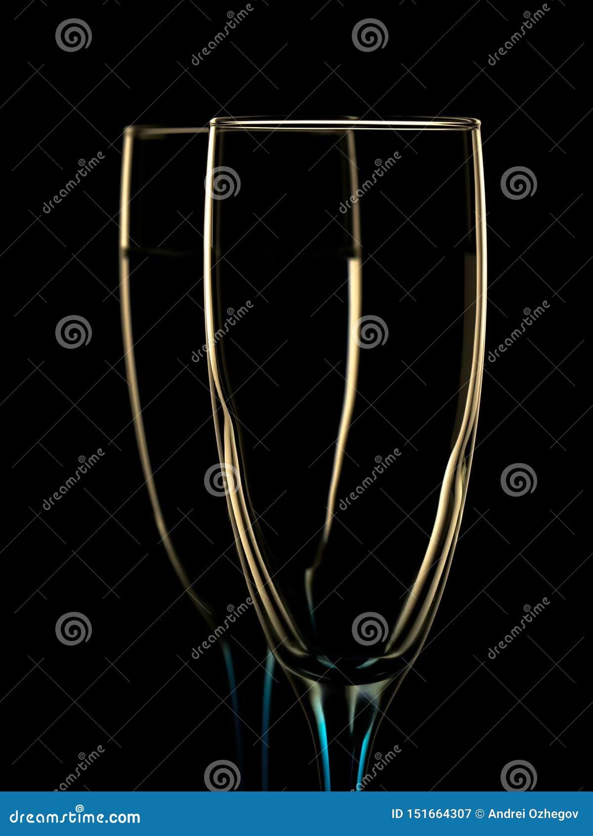 Imagem elegante de vidros do champanhe