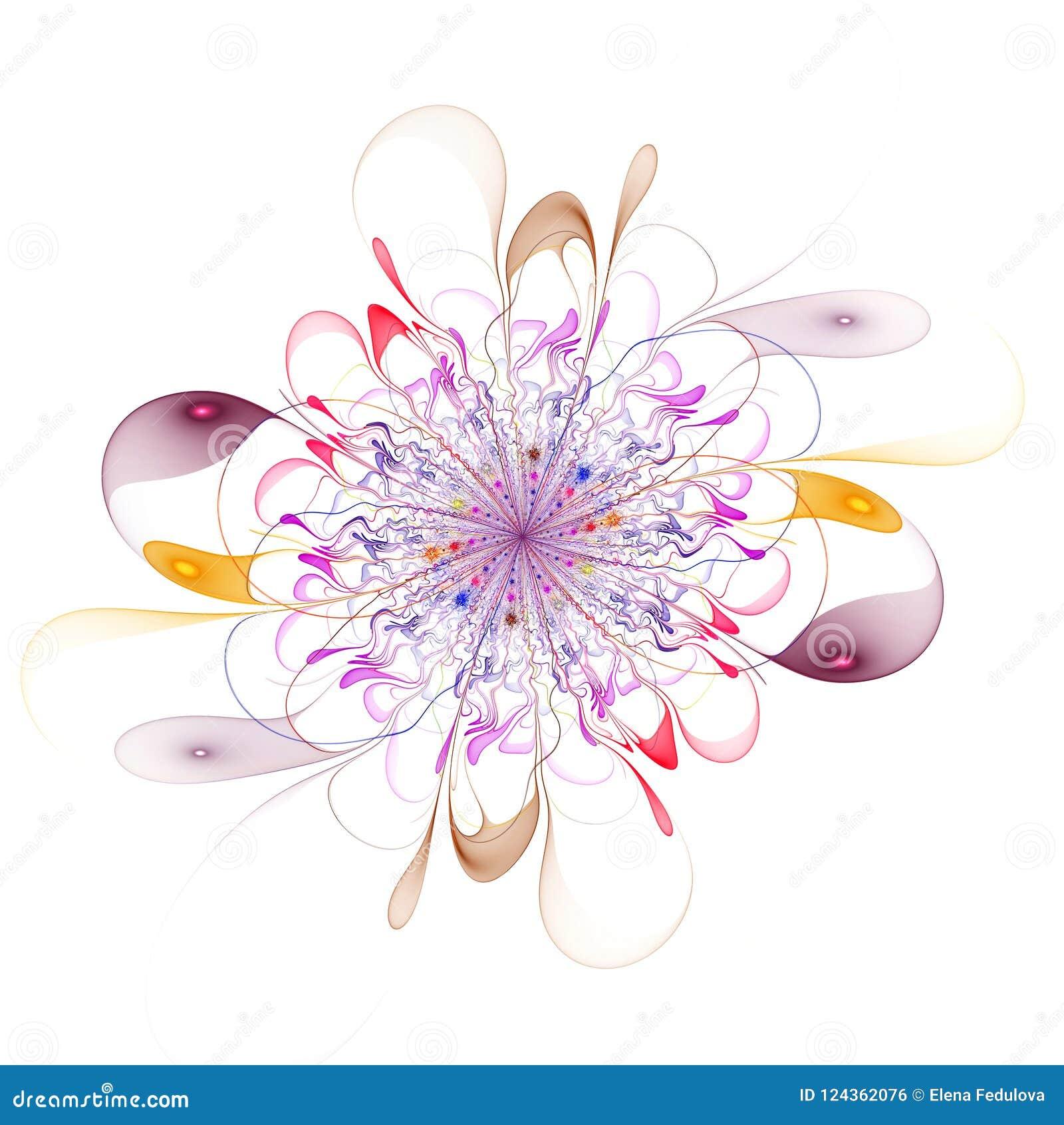 Imagem gerada por computador da flor bonita abstrata do fractal