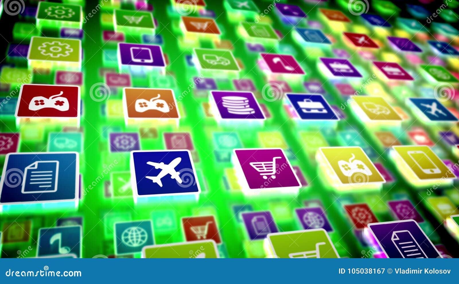 Imagem móvel Protrusive da aplicação