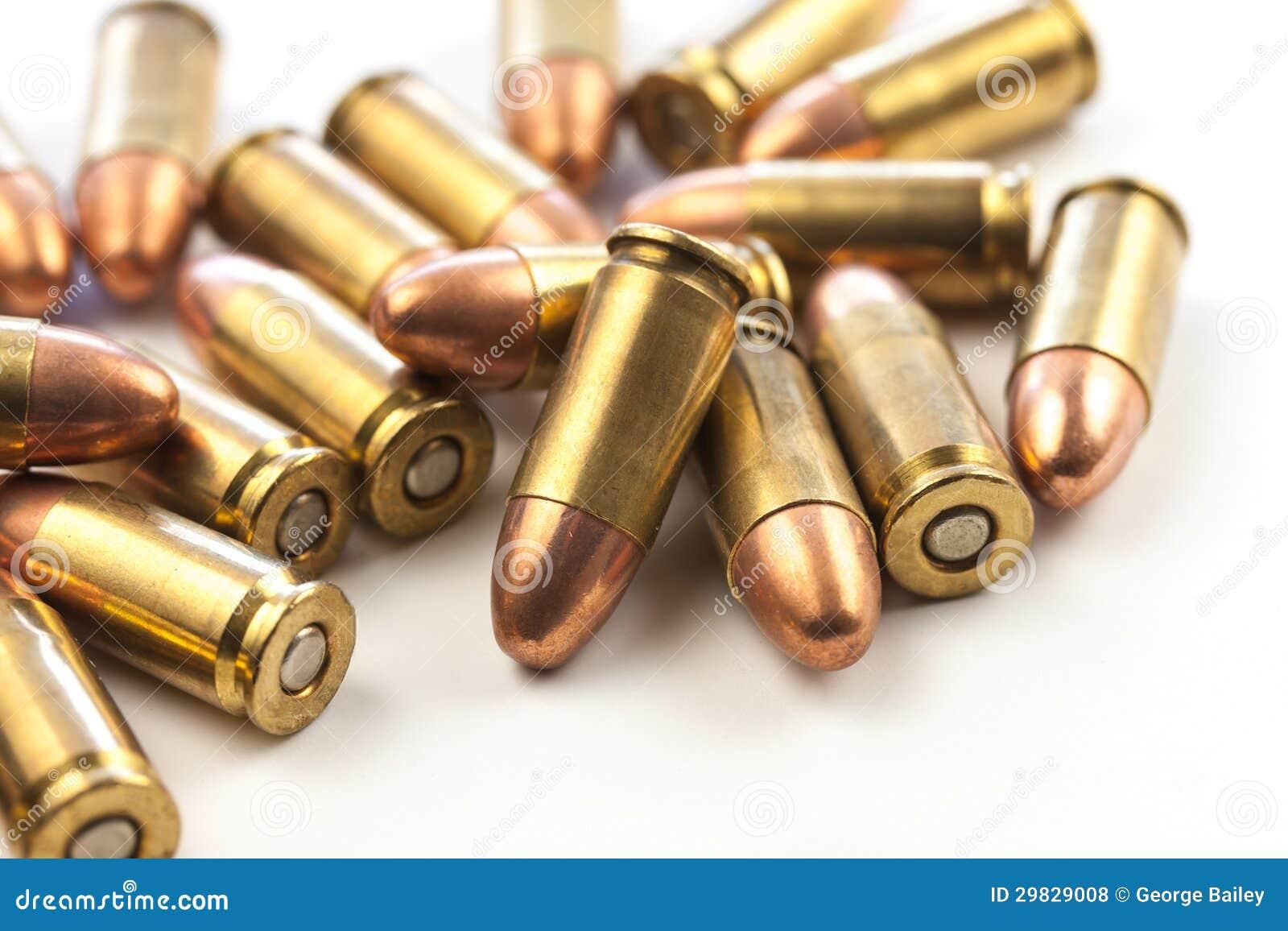 Grupo de balas de 9mm