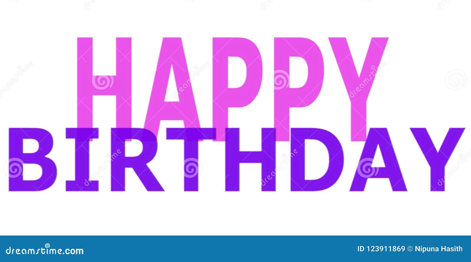Imagem simples do desejo do feliz aniversario