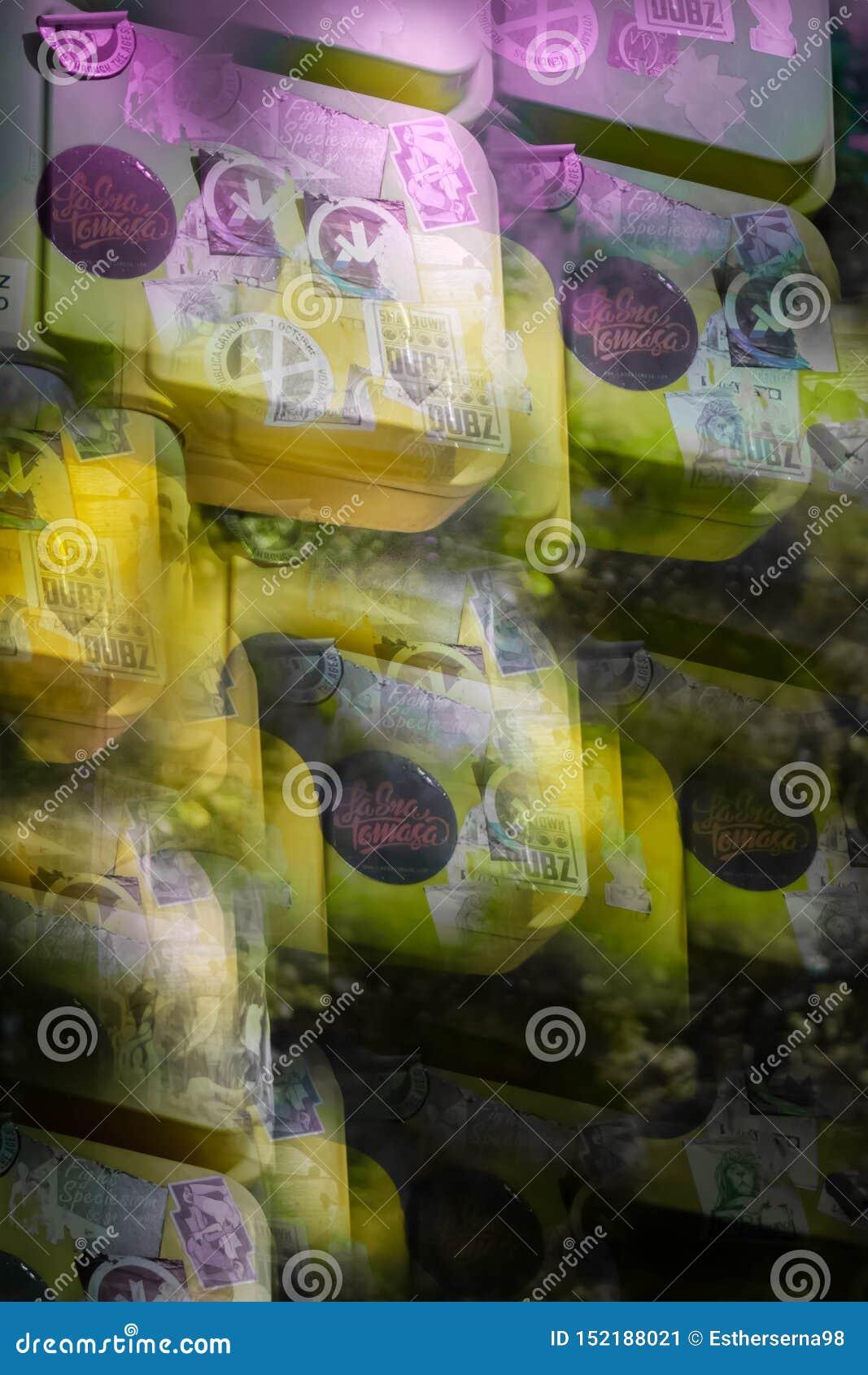 Imagen abstracta de un semáforo