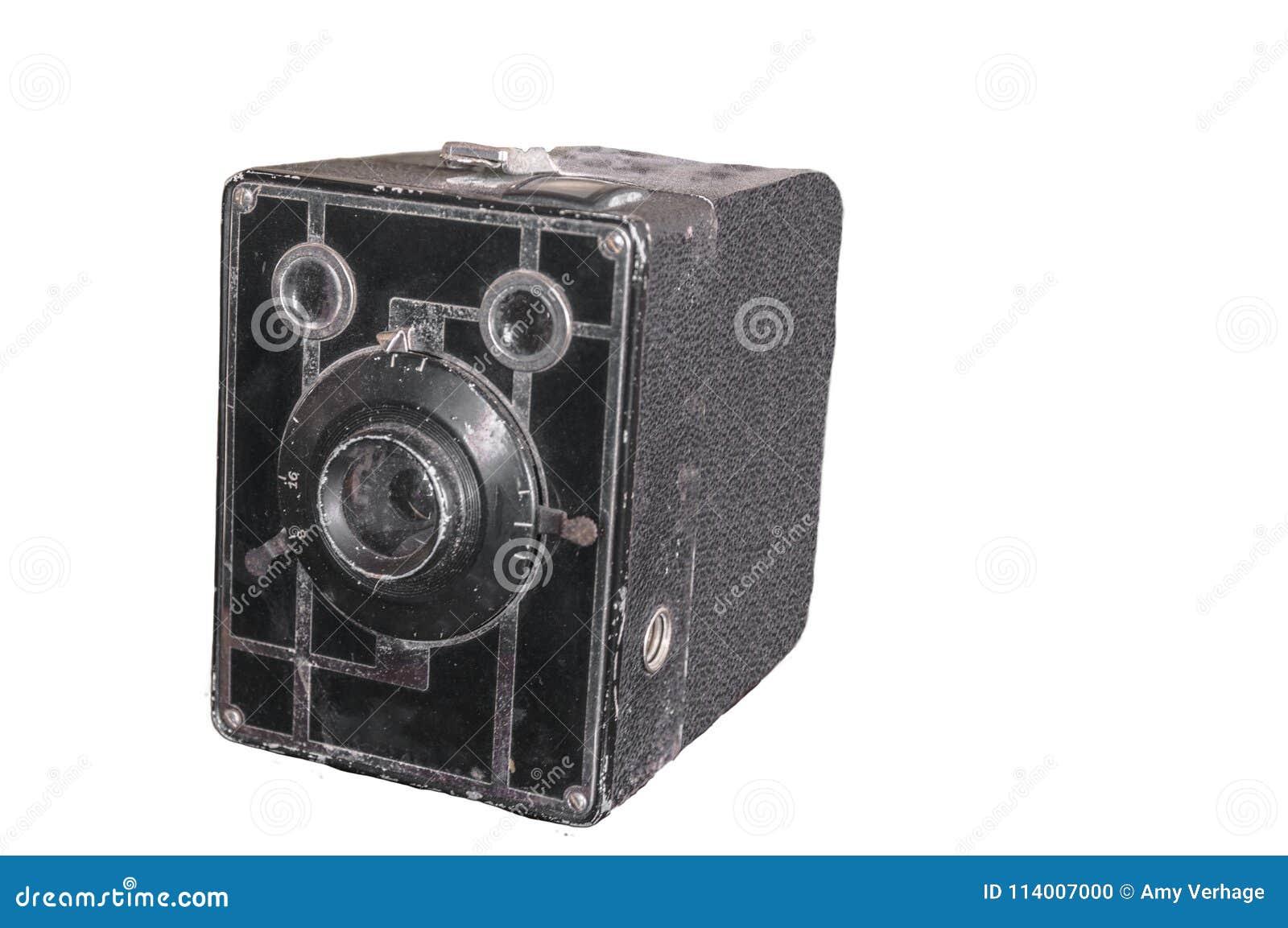 Imagen aislada de una cámara vieja