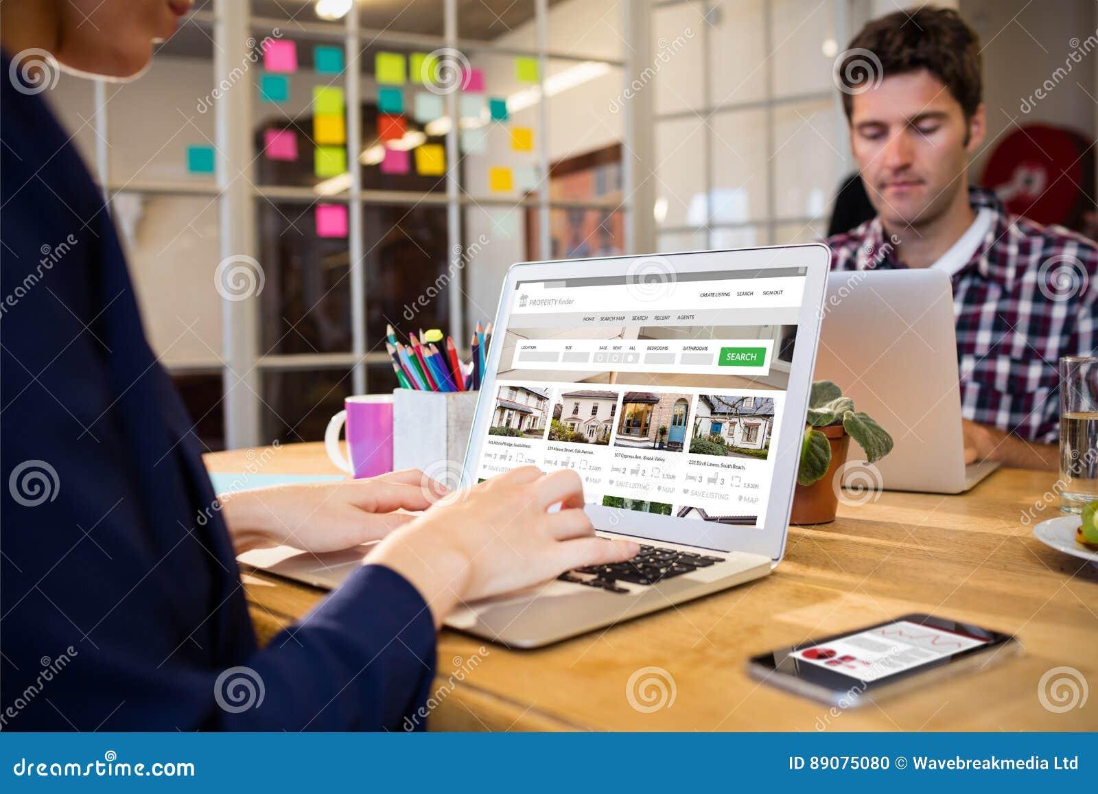 Imagen compuesta de la imagen compuesta del sitio web de la propiedad