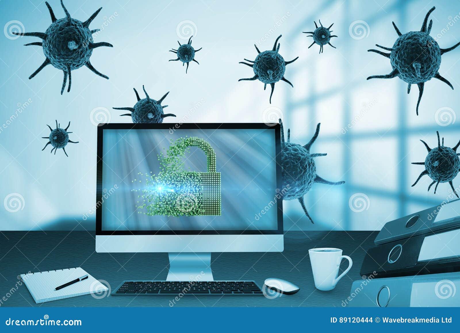 Imagen compuesta de la imagen digital de la cerradura gris 3d