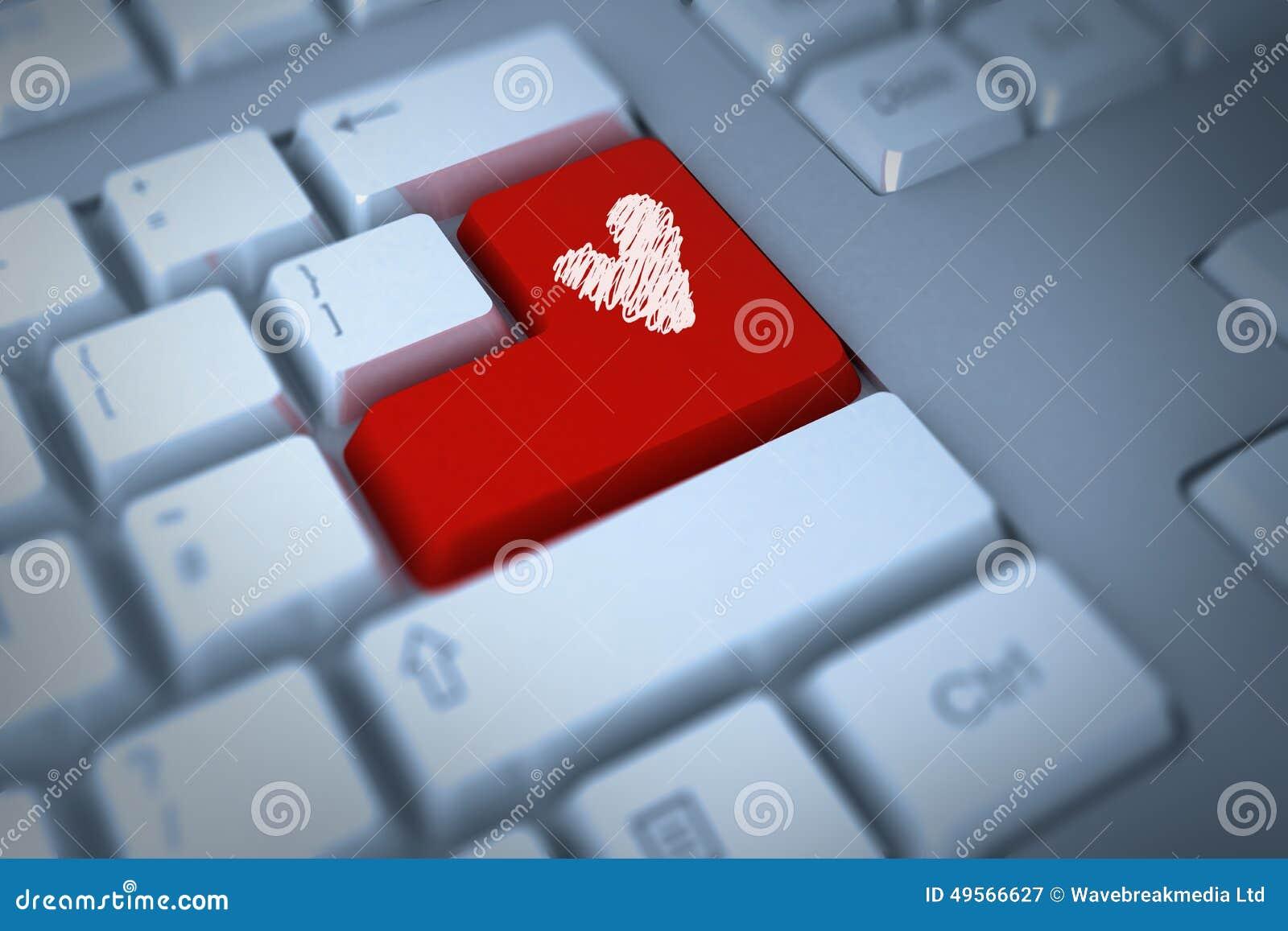 Imagen compuesta del corazón del amor
