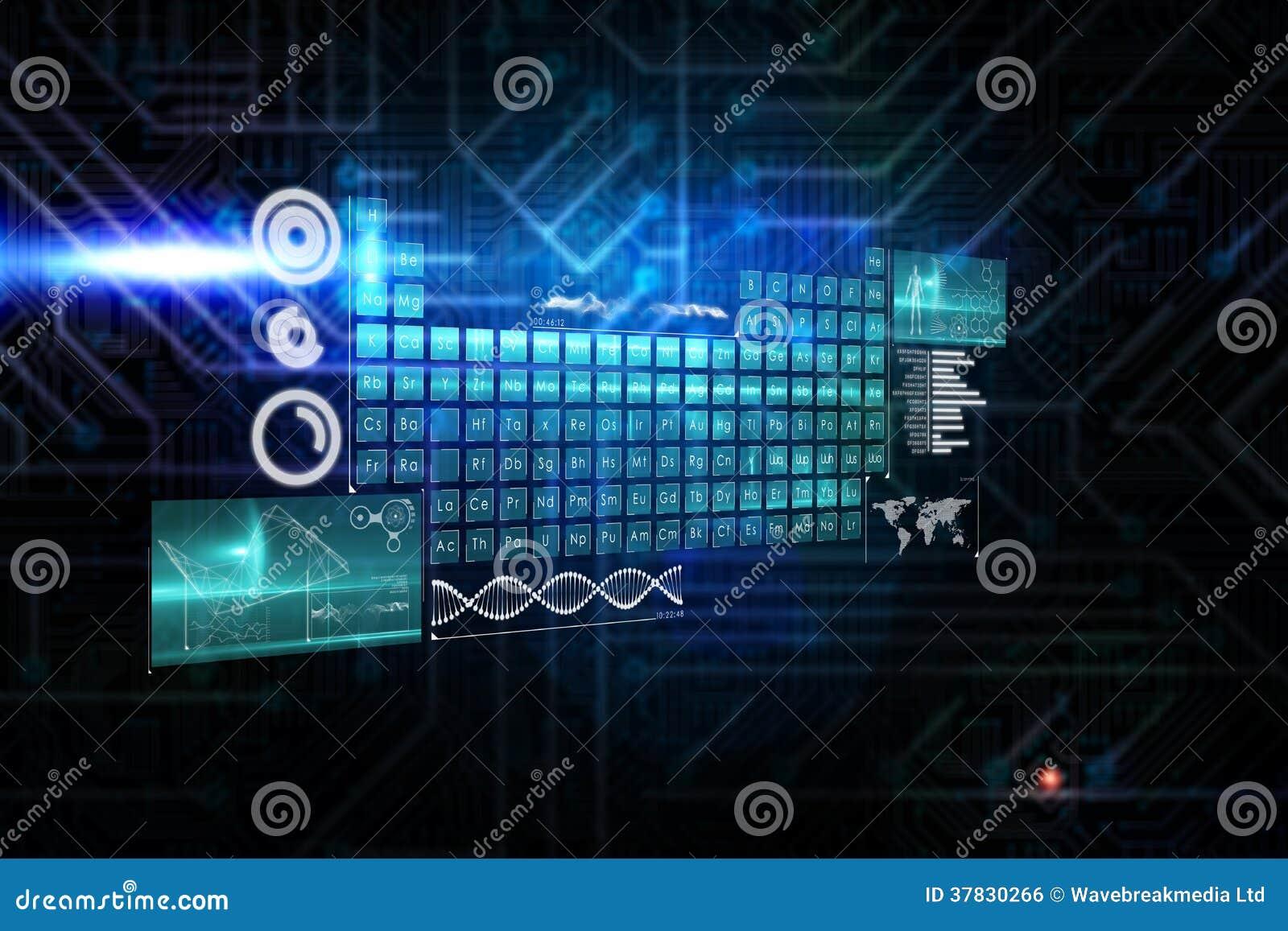 Imagen compuesta del interfaz del teclado