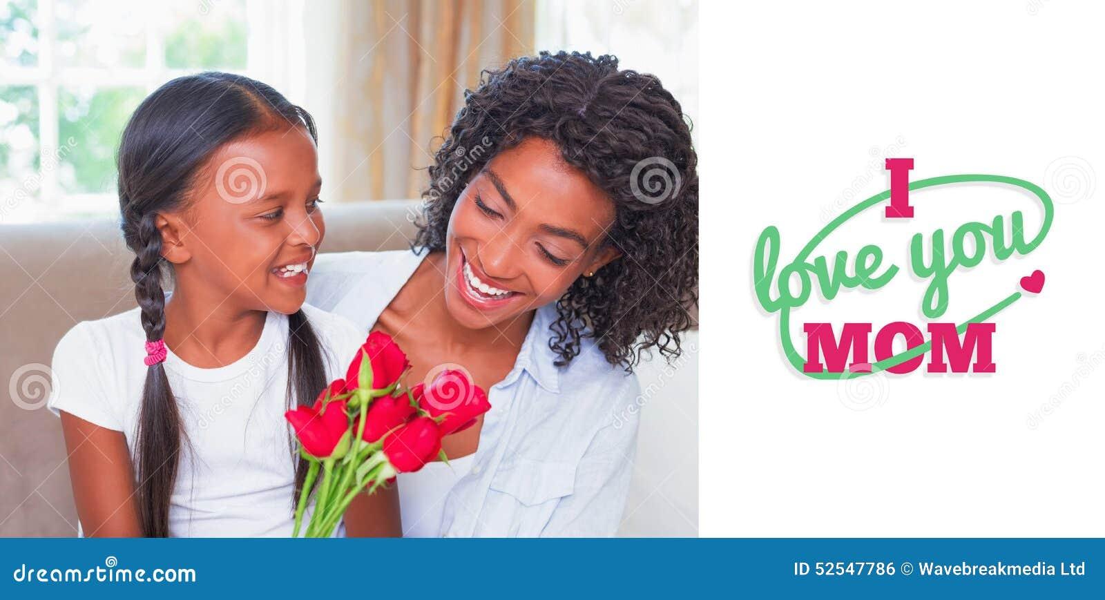 Imagen compuesta del saludo del día de madres