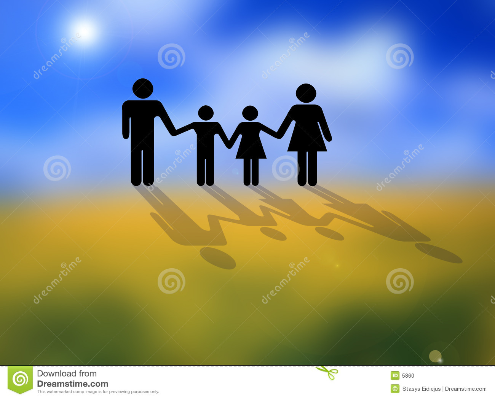Imagen conceptual de la familia