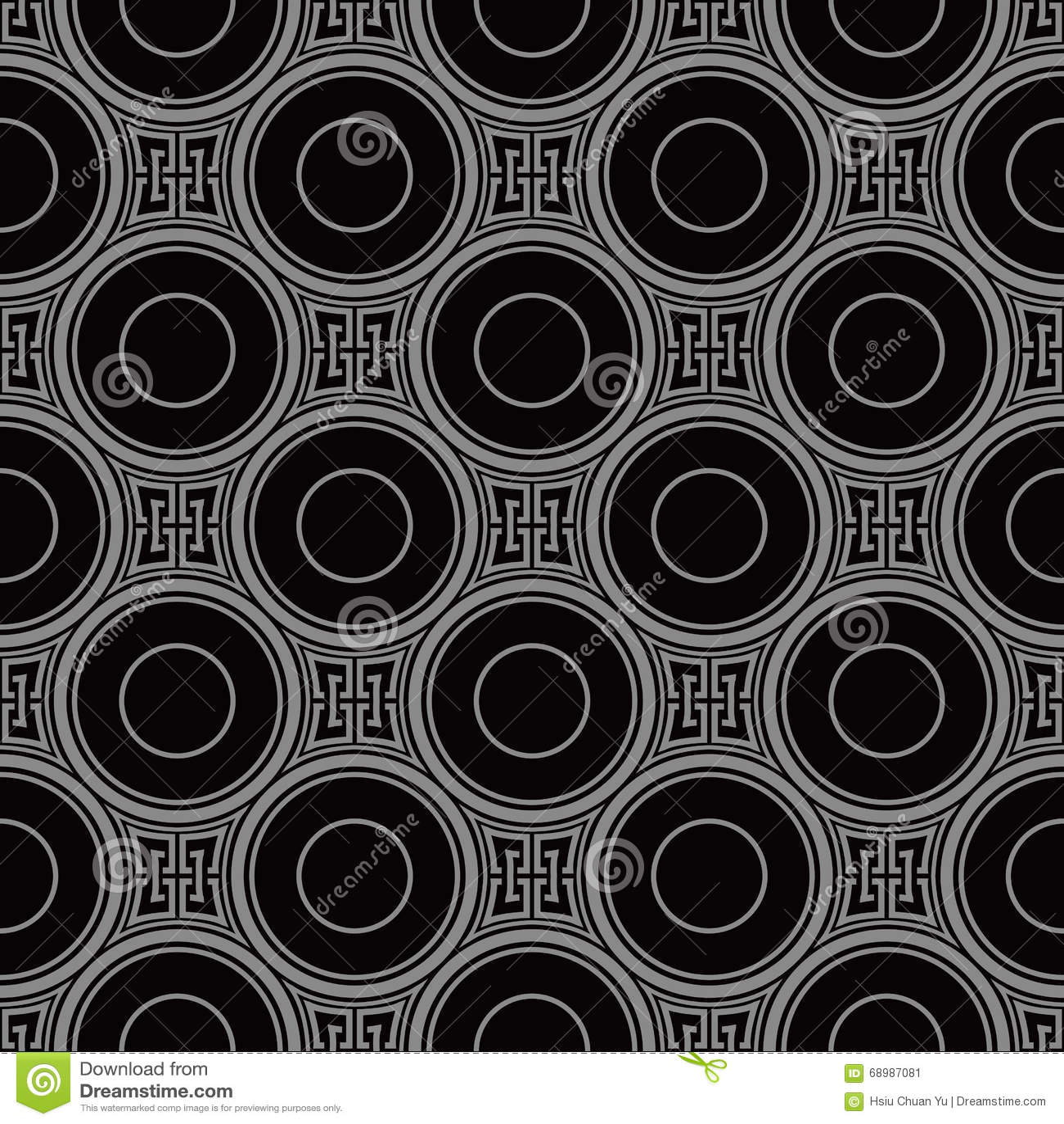 Imagen de fondo antigua oscura elegante de la geometría redonda