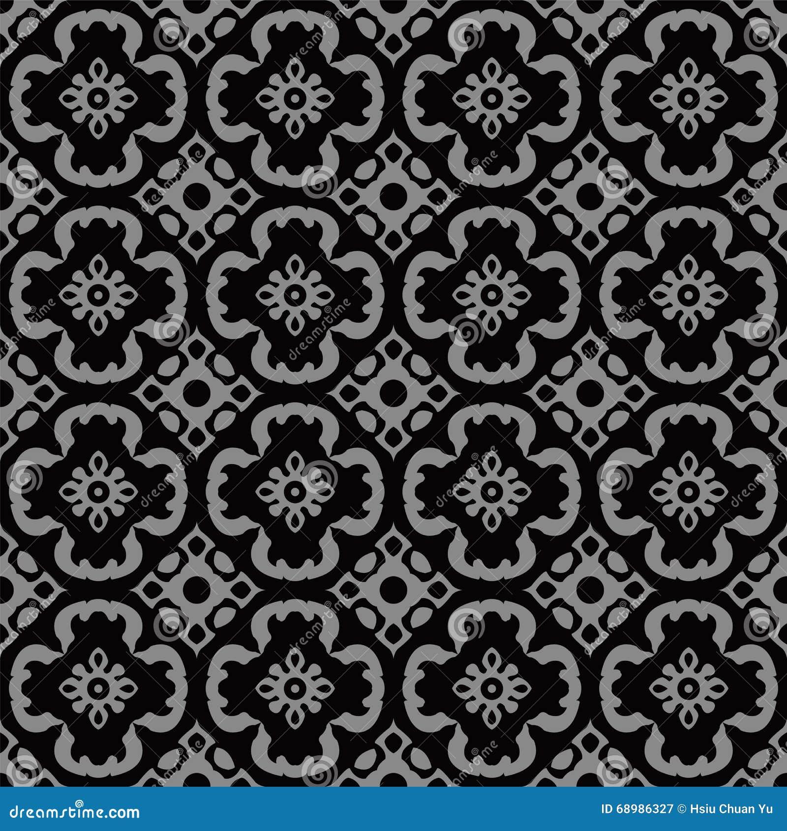 Imagen de fondo antigua oscura elegante de la geometría redonda de la flor de la curva