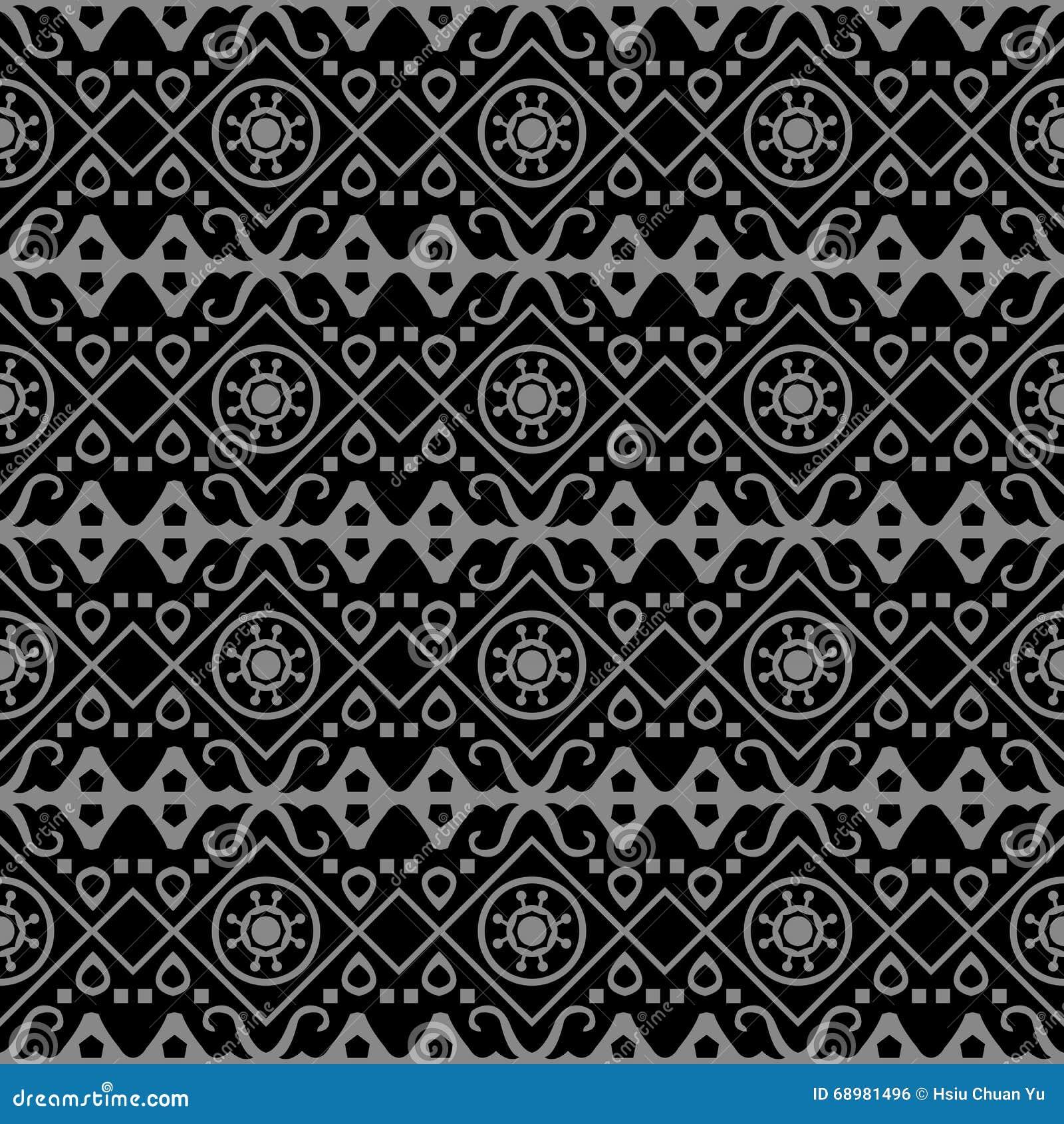 Imagen de fondo antigua oscura elegante del modelo aborigen redondo de la geometría del control