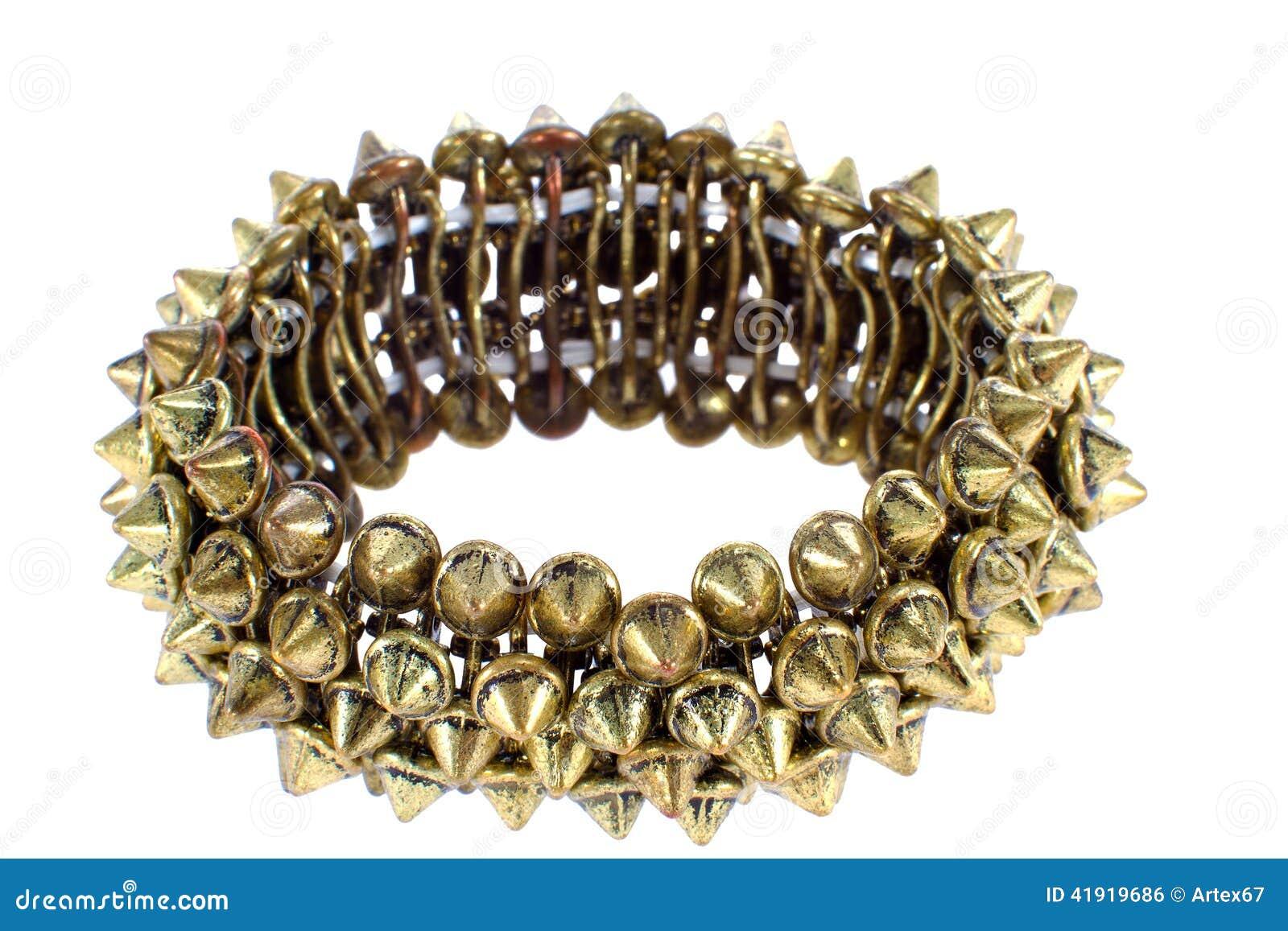 Imagen de la pulsera de cobre femenina hermosa con los pernos prisioneros