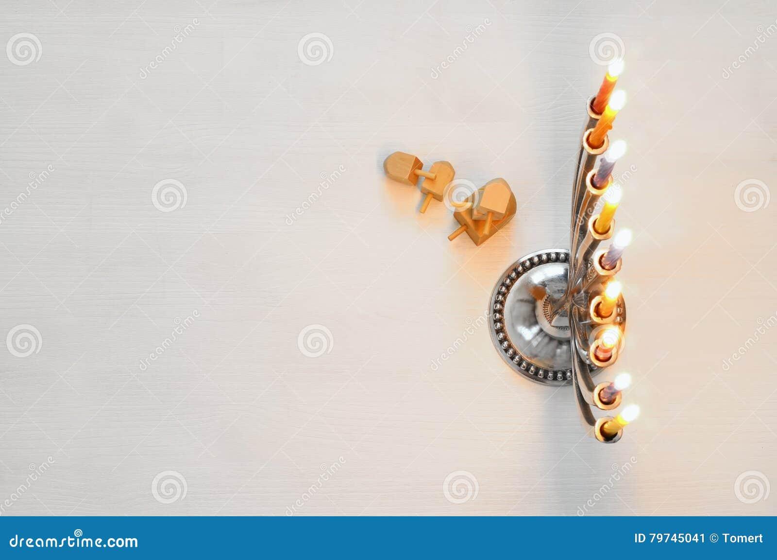 Imagen de la visión superior del día de fiesta judío Jánuca