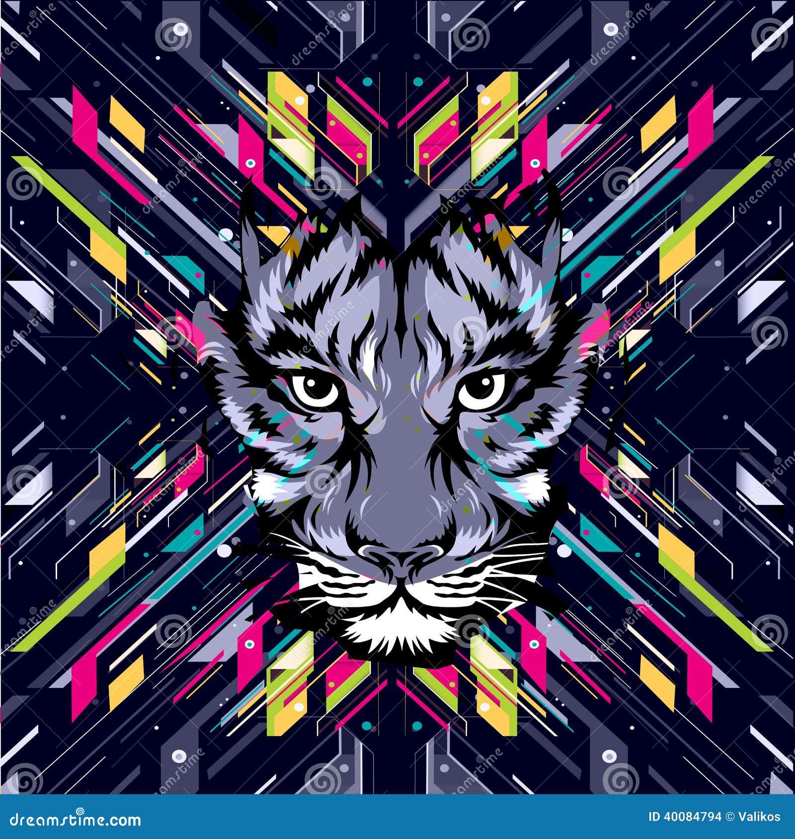 snow leopard digital art