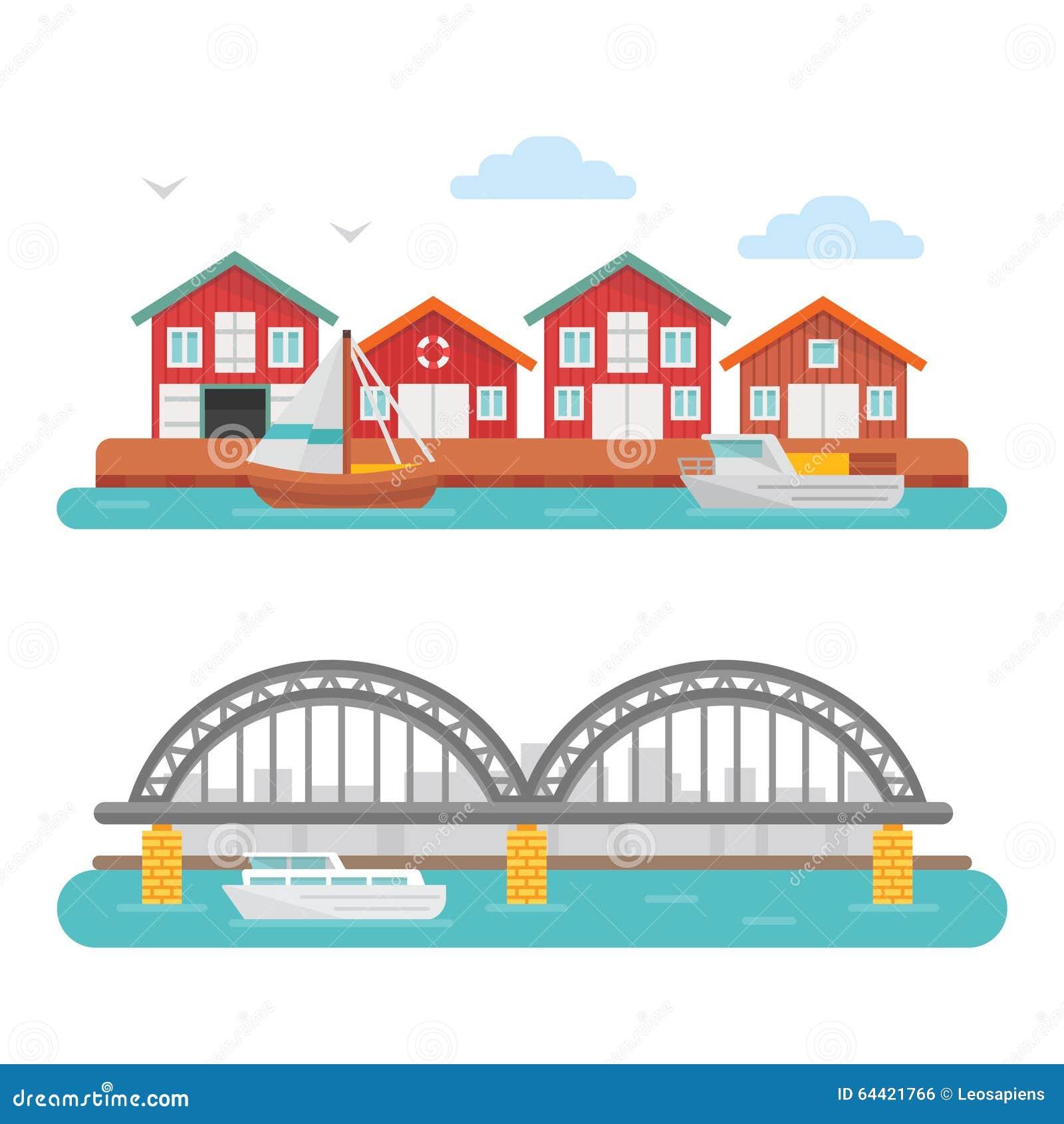 Imagen del barco y del puerto