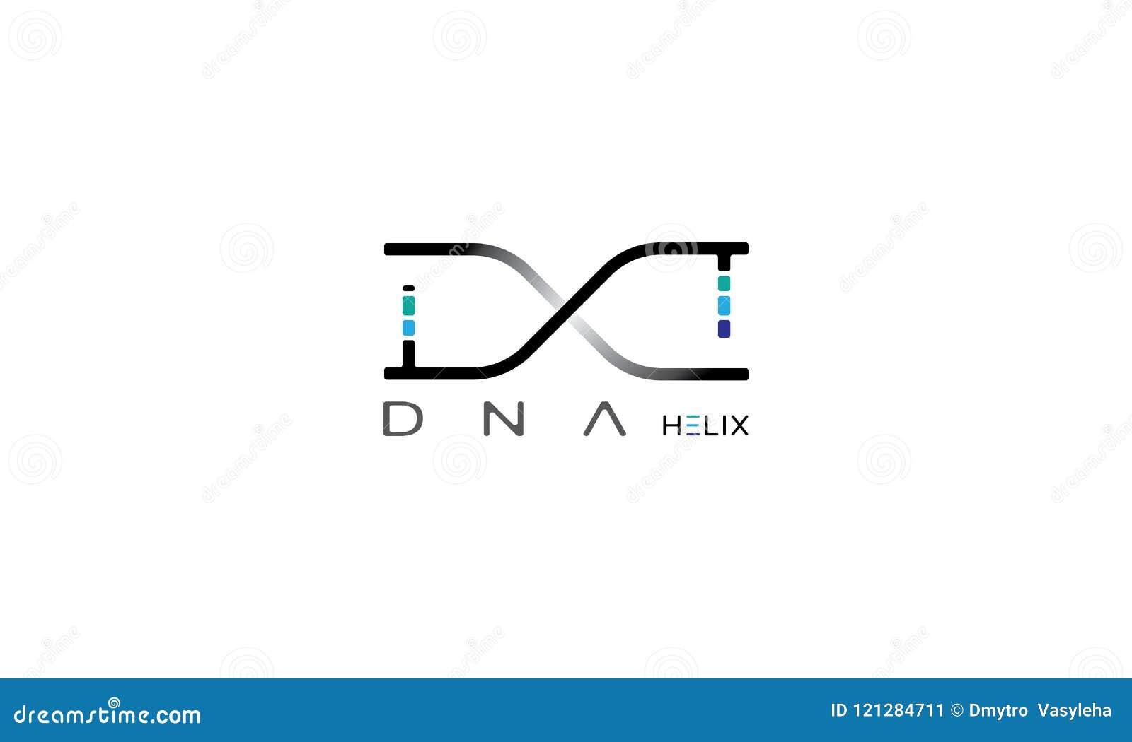 Imagen del vector de la hélice de la DNA