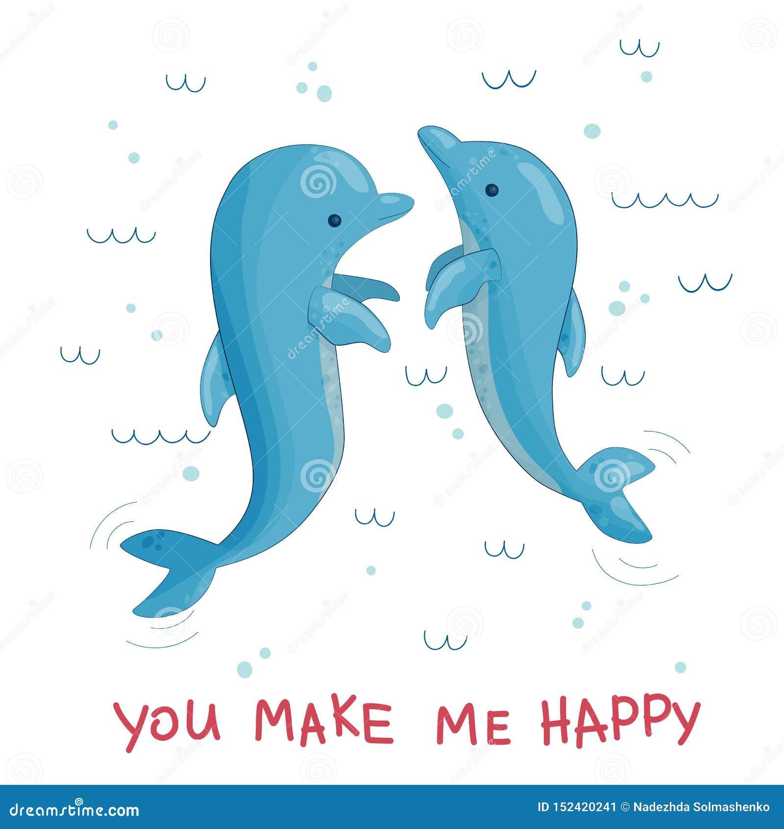 Imagen del vector de saltar de los delfínes del agua