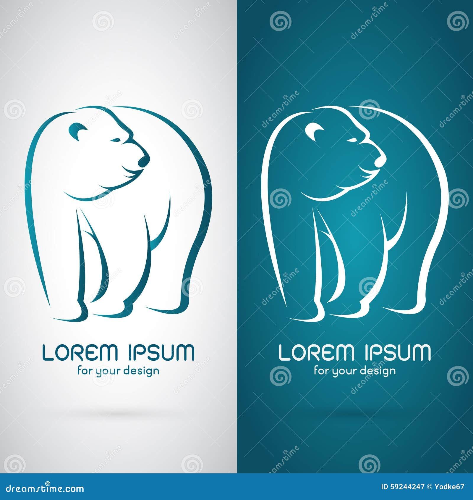 Imagen del vector de un diseño del oso