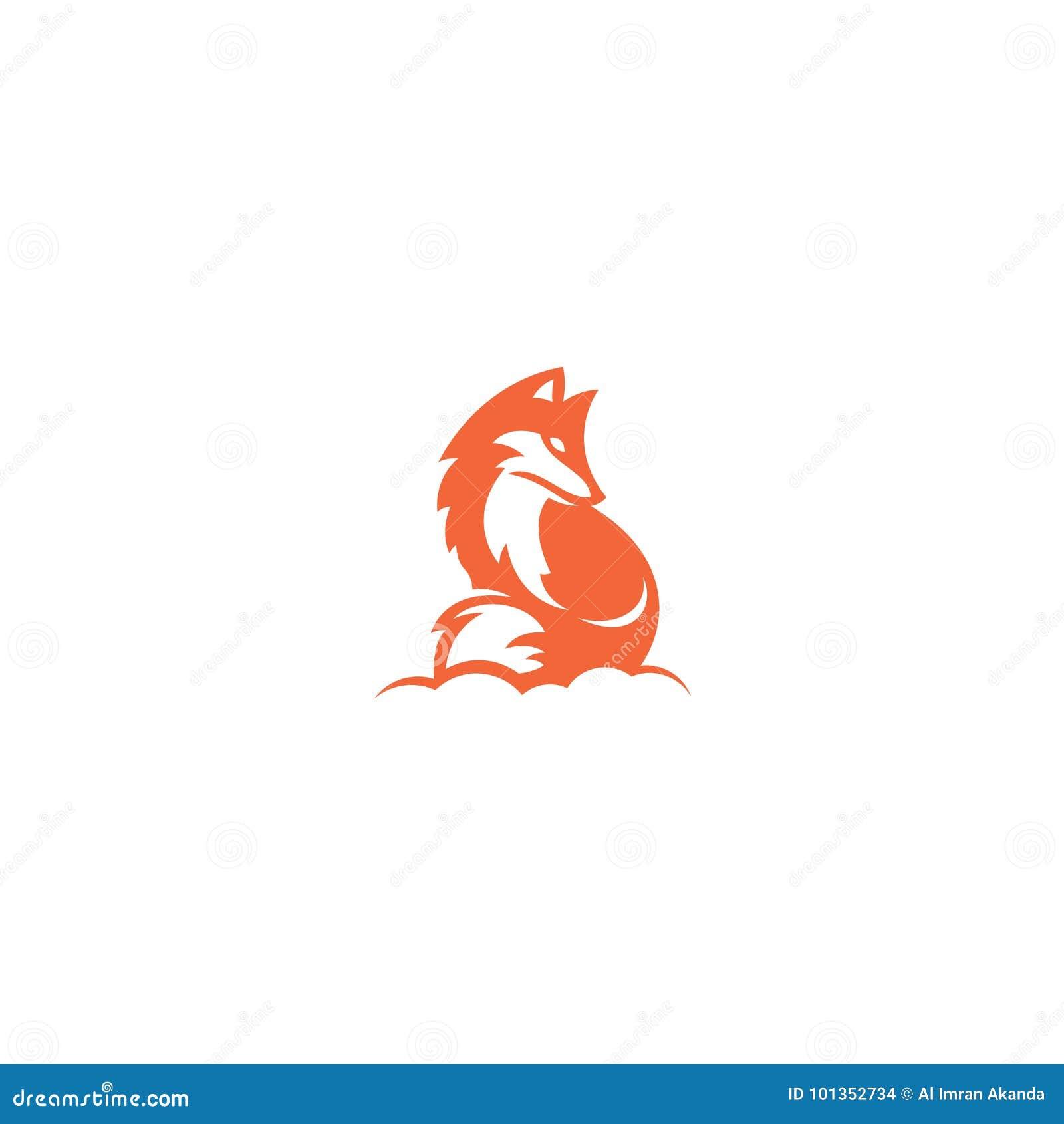 Imagen del vector de un diseño del zorro