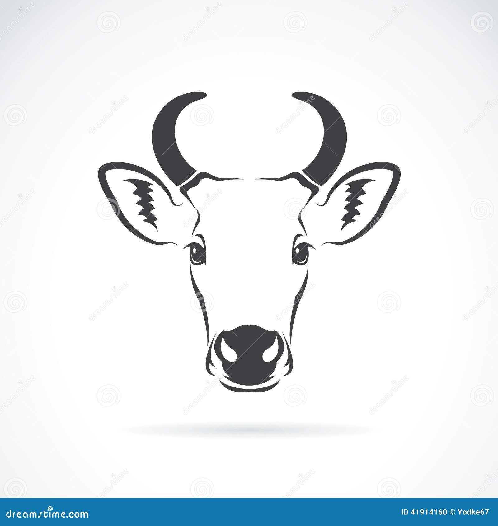 Imagen del vector de una cabeza de la vaca