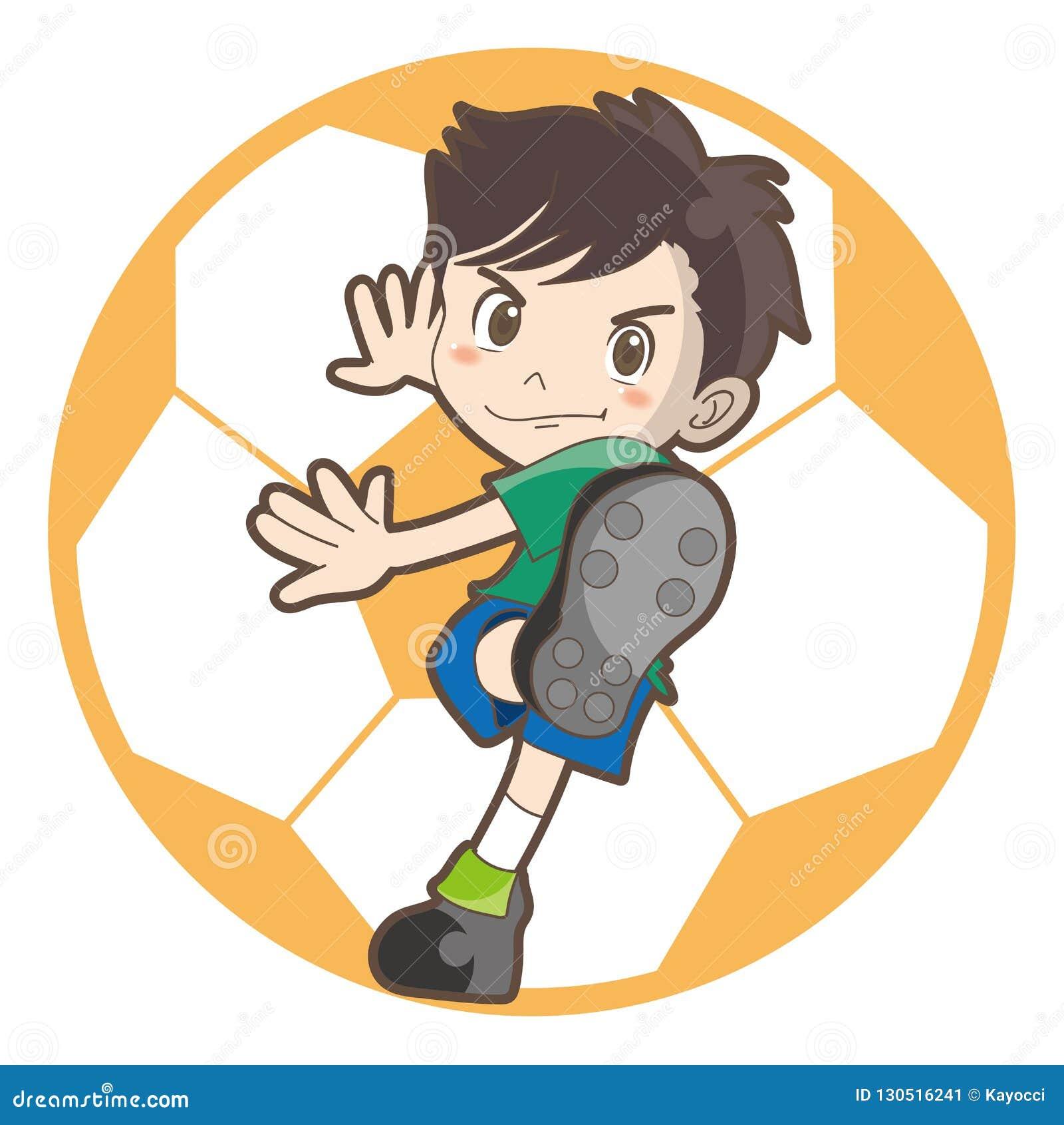 Imagen del vector del fútbol de los niños