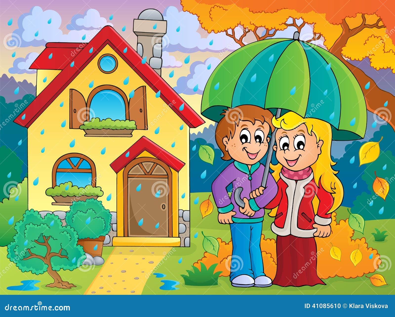 Imagen lluviosa 3 del tema del tiempo