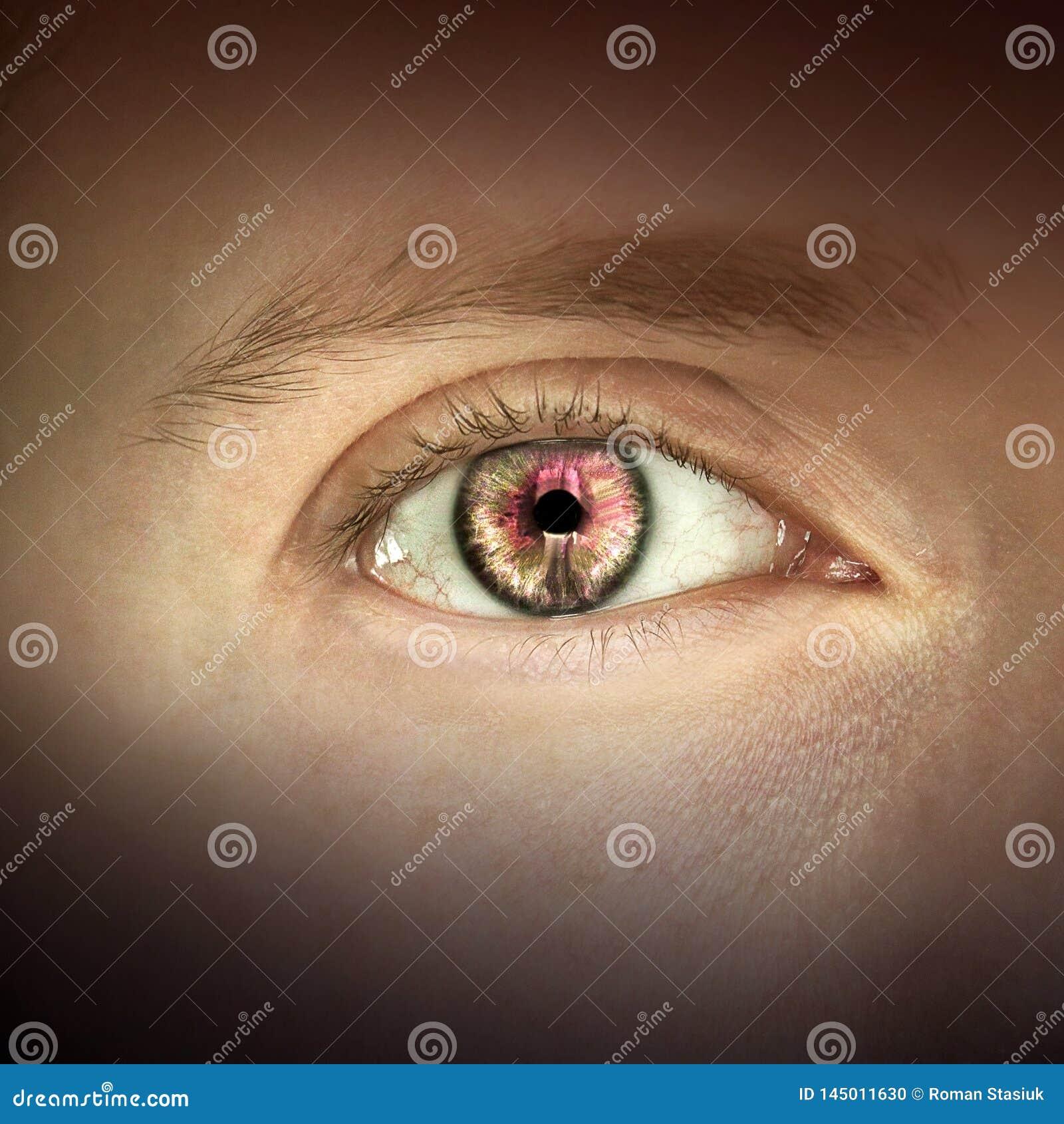 Imagen macra del ojo humano