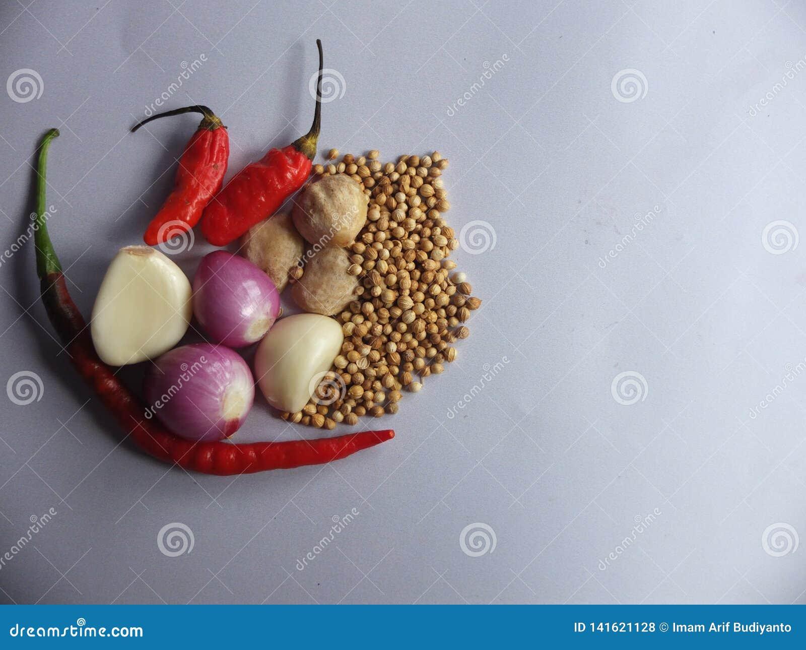 Imagen natural de las especias de la cocina