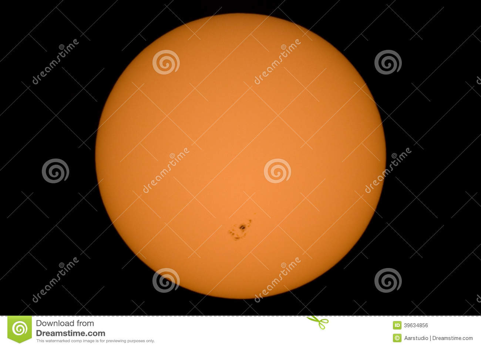 Imagen Real Del Sol Con Un Grupo Grande De La Mancha Solar Hecho