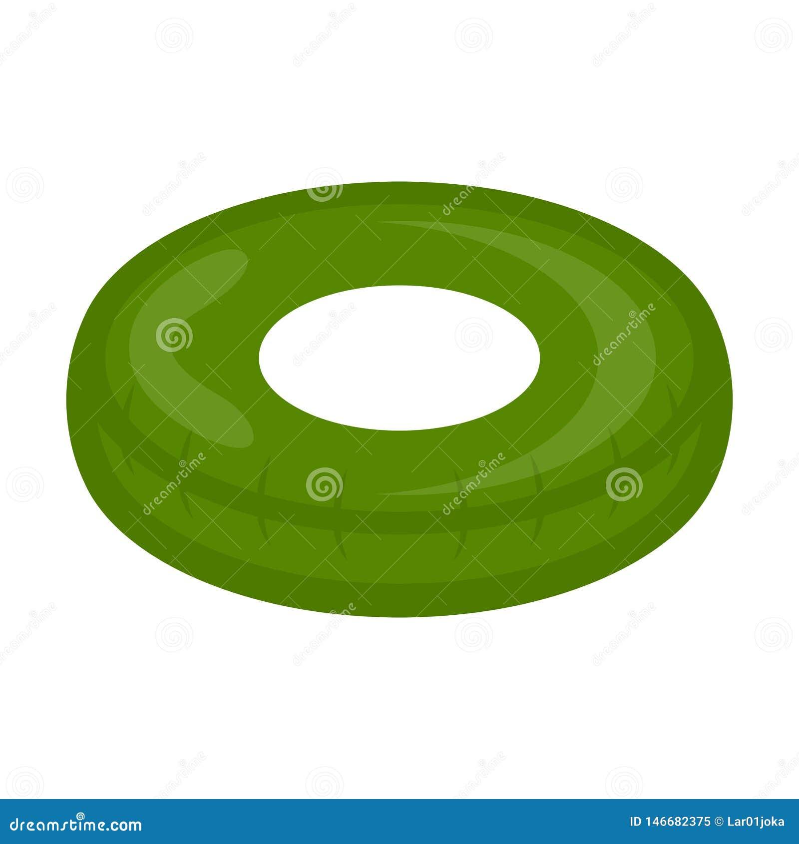 Imagen verde aislada del juguete del flotador de la piscina