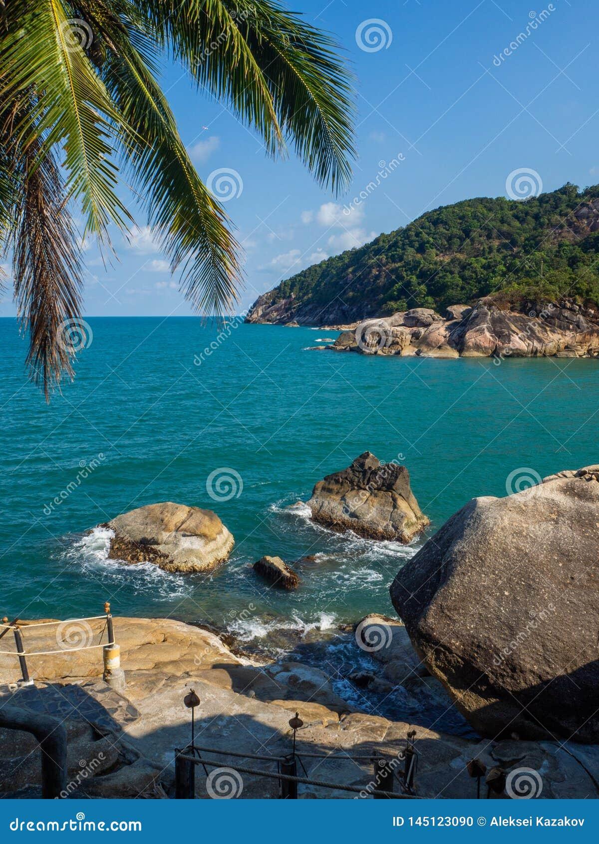 Imagens bonitas na ilha de Phangan