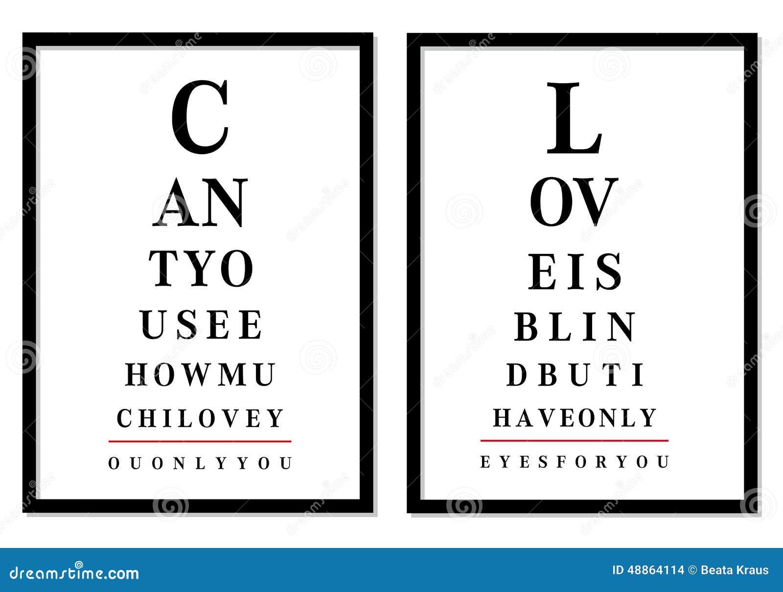 Imagens da carta de olho, vetor
