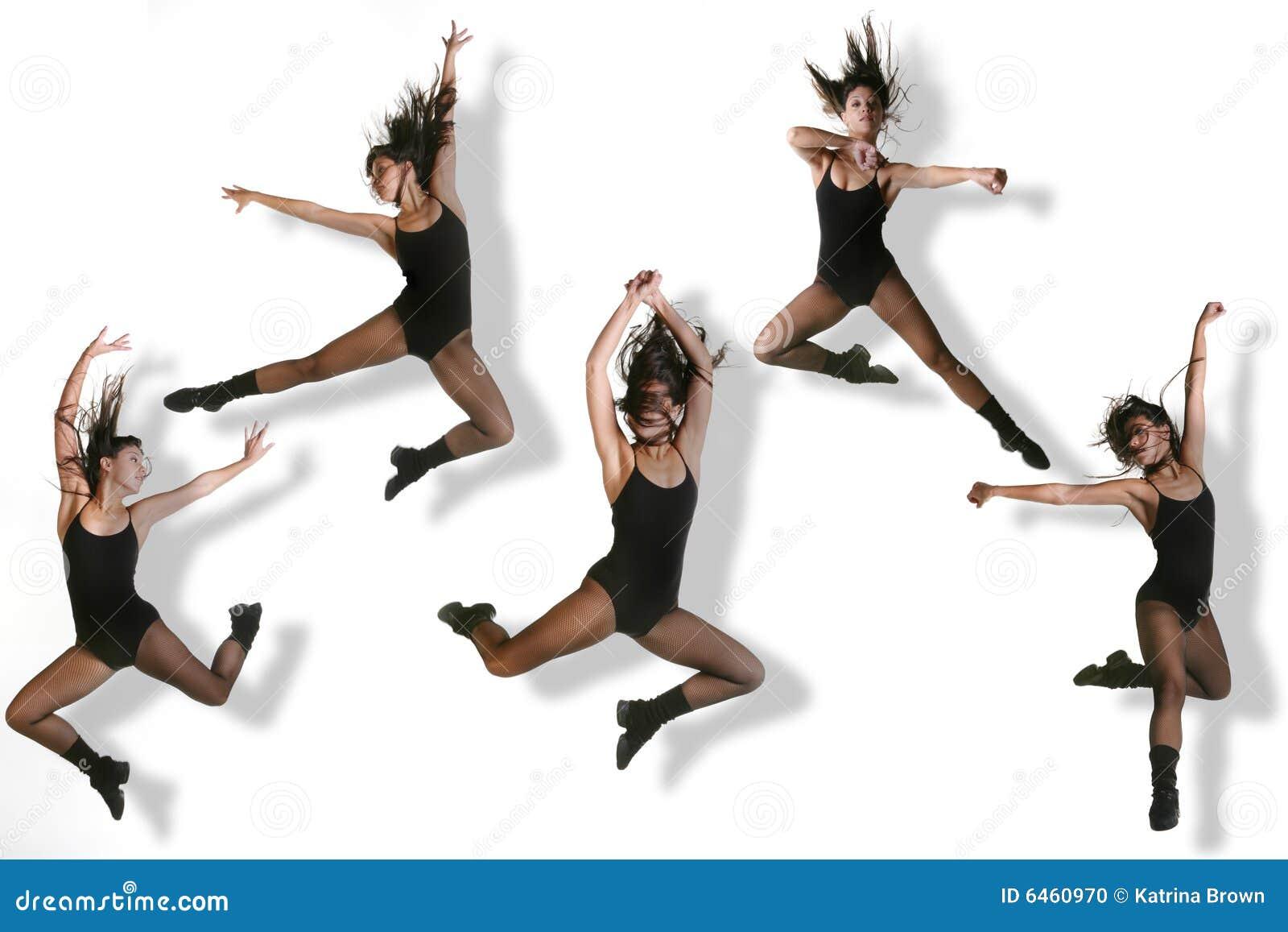 Imagens múltiplas de um dançarino moderno
