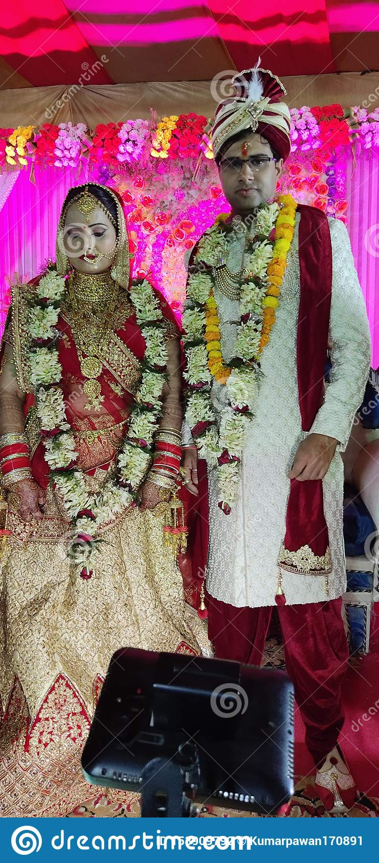 IMAGES DE MARIAGE, AMOUR, VARANASI, BEAU, INDIEN MARIAGE