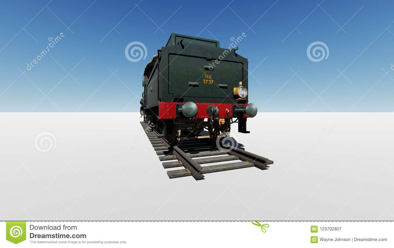 Dutch steam locomotive ns 3737 stock illustration illustration.