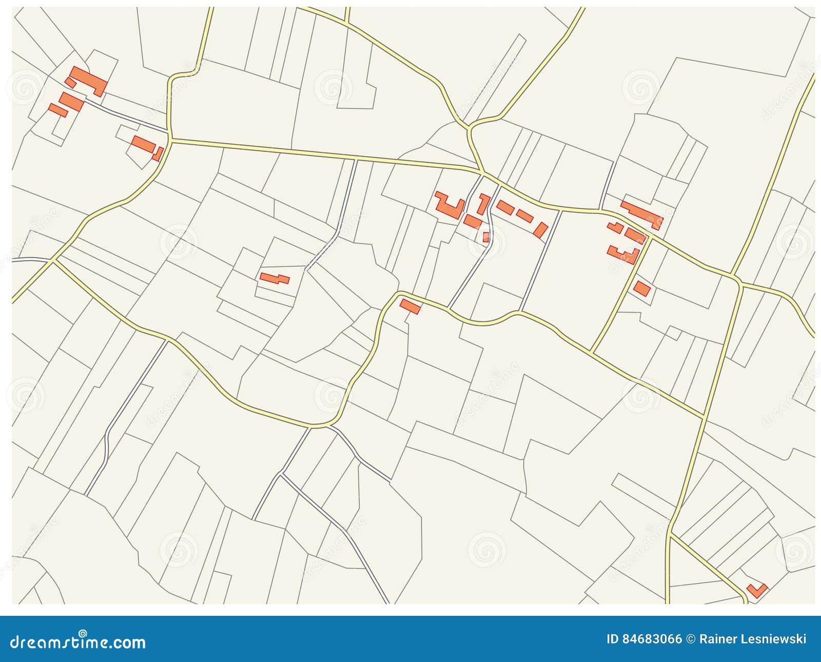 Imaginary Cadastre Plan Stock Vector Illustration Of Cartography 84683066