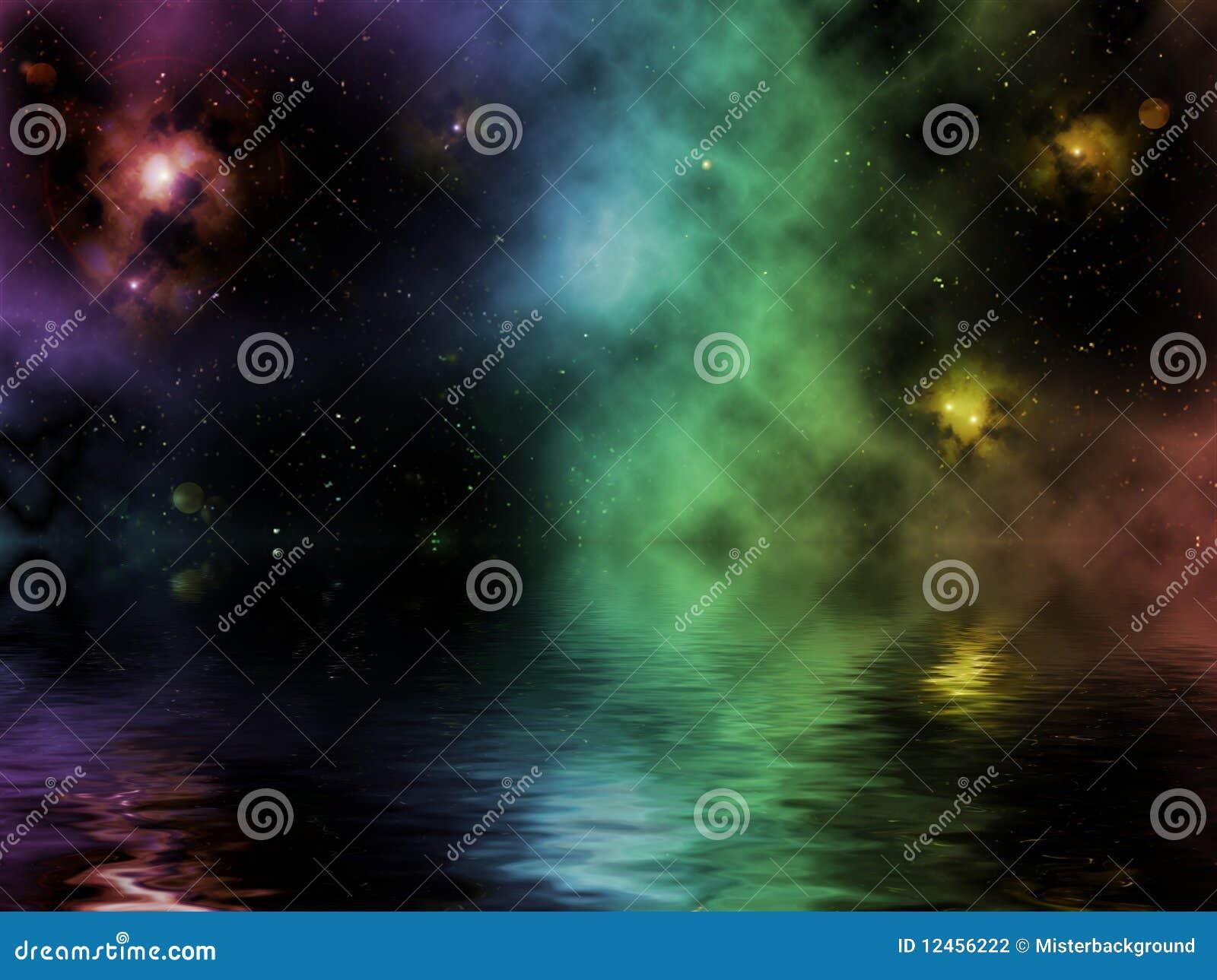 Imaginary Universe With Pretty Nebula Stock Illustration ... |Pretty Nebula