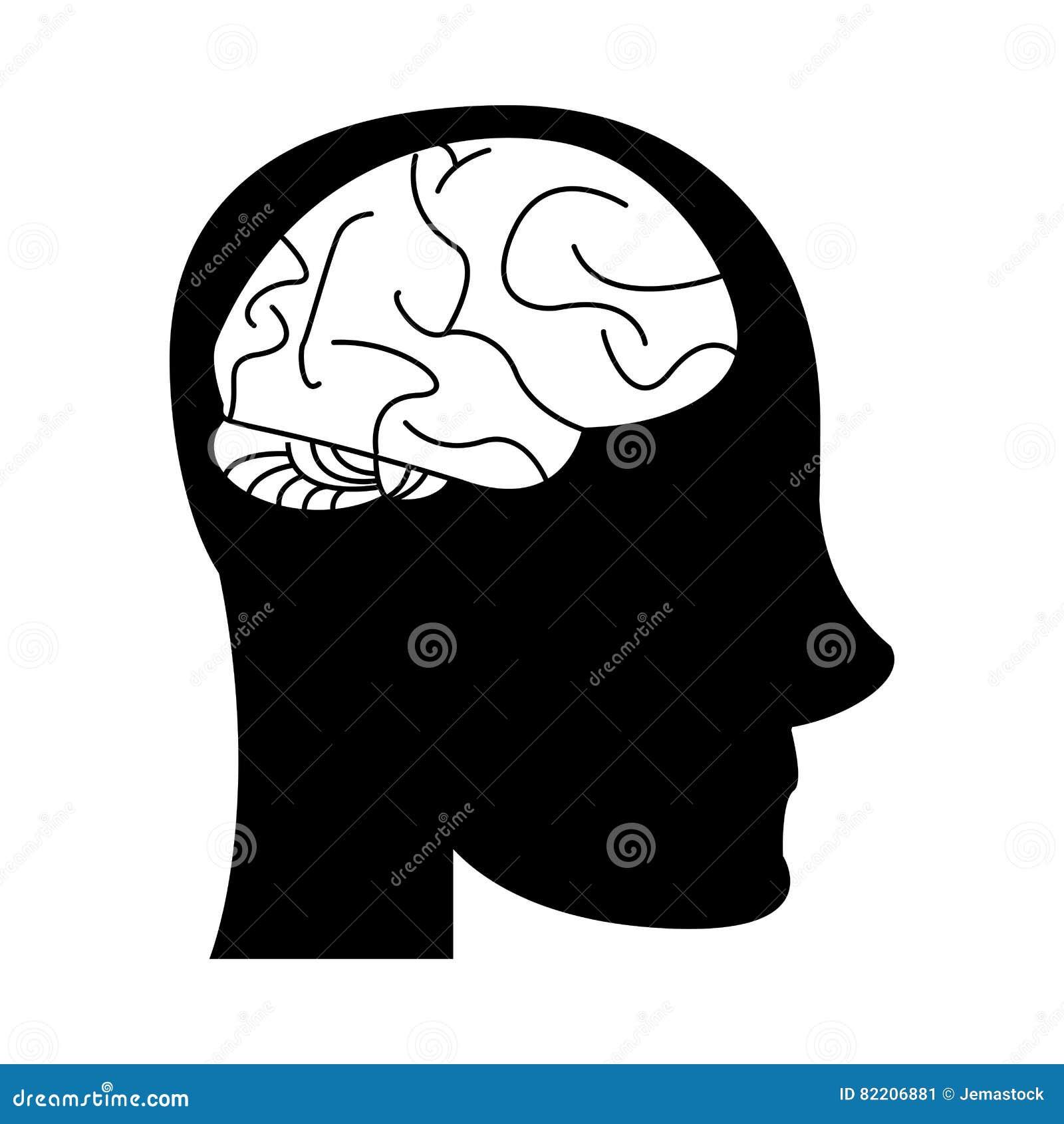 Idée De Photo De Profil imagination d'idée de cerveau de tête de profil de