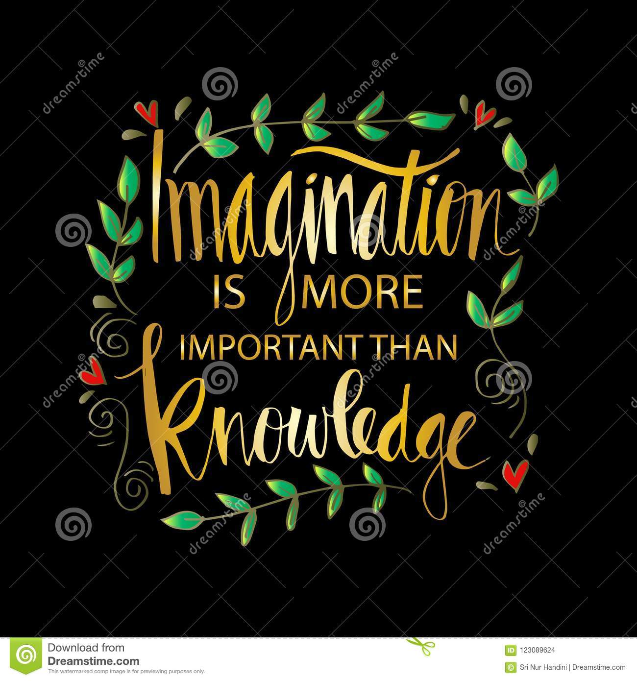 imagine is more important than knowledge